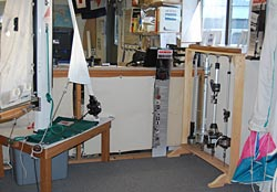 sail handling systems floor displays